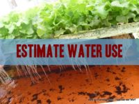 Estimate Water use