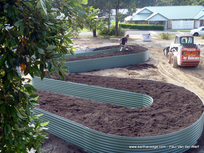 plumbing an earthan bed
